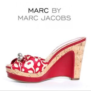 Marc by Marc Jacobs • Floral Cork Wedges Sz 37
